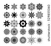 decorative elements set | Shutterstock .eps vector #529855360