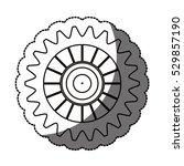 isolated gear design   Shutterstock .eps vector #529857190
