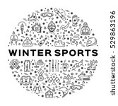 winter sports icons. collage of ...   Shutterstock .eps vector #529863196