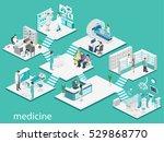 isometric flat interior of... | Shutterstock .eps vector #529868770