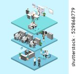 isometric flat 3d abstract... | Shutterstock .eps vector #529868779
