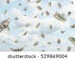 lots of hundred dollars... | Shutterstock . vector #529869004