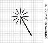 magic and wand    black vector... | Shutterstock .eps vector #529870870