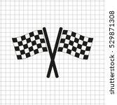 racing flag    black vector icon | Shutterstock .eps vector #529871308