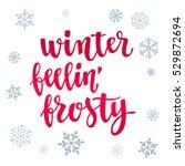 modern calligraphy style winter ... | Shutterstock .eps vector #529872694
