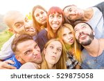 best friends taking selfie... | Shutterstock . vector #529875058