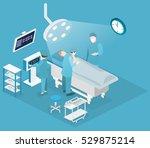 isometric flat 3d concept... | Shutterstock .eps vector #529875214