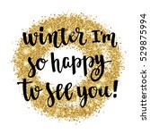 winter hand lettering card.... | Shutterstock .eps vector #529875994