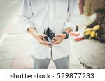bankruptcy concept.man in white ... | Shutterstock . vector #529877233