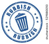 rubbish rubber stamp round