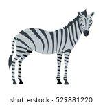 zebra cartoon isolated on white.... | Shutterstock .eps vector #529881220
