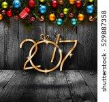 2017 happy new year seasonal... | Shutterstock . vector #529887358