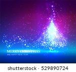 shining christmas blue unusual... | Shutterstock .eps vector #529890724