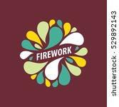 vector logo firework | Shutterstock .eps vector #529892143