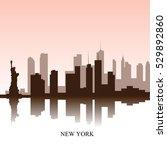 brown cityscape of new york...   Shutterstock .eps vector #529892860