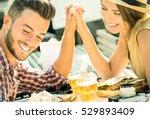 couple in love taking selfie at ...   Shutterstock . vector #529893409