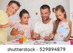 portrait of a cute happy father ... | Shutterstock . vector #529894879