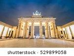 bright view of brandenburg gate ... | Shutterstock . vector #529899058