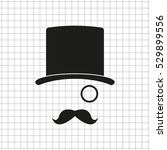 gentleman    black vector icon | Shutterstock .eps vector #529899556