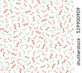 retro memphis geometric line... | Shutterstock .eps vector #529900909