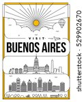 linear travel buenos aires... | Shutterstock .eps vector #529902670
