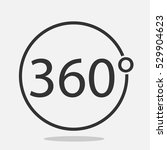 angle 360 degrees sign icon | Shutterstock .eps vector #529904623