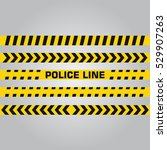 police line and danger tape.... | Shutterstock .eps vector #529907263