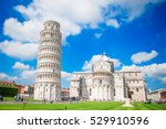 tourists visiting the leaning... | Shutterstock . vector #529910596
