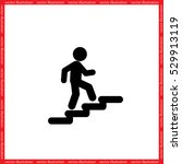 stairs icon vector illustration ...   Shutterstock .eps vector #529913119