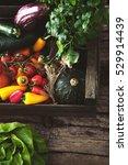 Organic Vegetables On Wood...