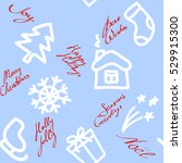 christmas seamless pattern with ... | Shutterstock . vector #529915300