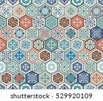 vector oriental seamless... | Shutterstock .eps vector #529920109