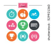 sport games  fitness icons.... | Shutterstock .eps vector #529921360