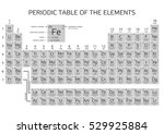 periodic table of the elements... | Shutterstock .eps vector #529925884