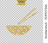 gold glitter vector icon of... | Shutterstock .eps vector #529927366