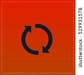 reload icon vector. black flat... | Shutterstock .eps vector #529931578