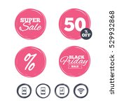 super sale and black friday... | Shutterstock .eps vector #529932868