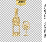 0bf399412c5 Gold Glitter Vector Icon Wine Bottle Stock Vector (Royalty Free) 529935496  - Shutterstock