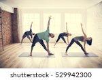 yoga practice exercise class... | Shutterstock . vector #529942300