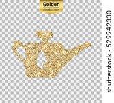 gold glitter vector icon of oil ... | Shutterstock .eps vector #529942330