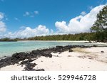tropical white dream beach on... | Shutterstock . vector #529946728