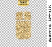gold glitter vector icon of...   Shutterstock .eps vector #529946860