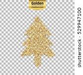 gold glitter vector icon of... | Shutterstock .eps vector #529947100
