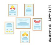 wall of certificates icon in... | Shutterstock .eps vector #529949674