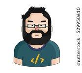 programmer icon in cartoon...   Shutterstock .eps vector #529950610
