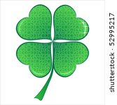 lucky puzzle heart clover with... | Shutterstock .eps vector #52995217