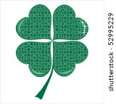 lucky puzzle clover with four... | Shutterstock .eps vector #52995229