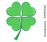 lucky puzzle heart clover with... | Shutterstock .eps vector #52995232