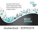 music notes on a color... | Shutterstock .eps vector #529953274