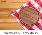 pizza board with napkin on... | Shutterstock . vector #529958914